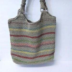 The Sak Bags - The Sak Grey Tote with Colorful Stripes